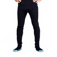 2 Pack Mens Cotton Thermal Underwear Long Johns Pants Black