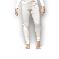Ladies Brandella 100% Pure Merino Wool Long Johns Pants Beige
