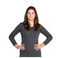 2 Pack Ladies Wool Blend Thermal Spencer Long Sleeve Top Black