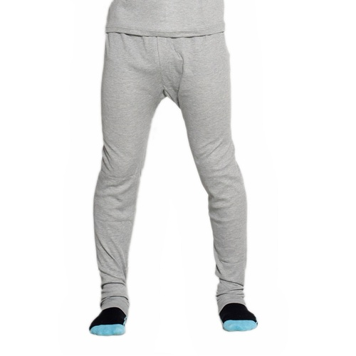 2 Pack Mens Cotton Thermal Underwear Long Johns Pants Grey