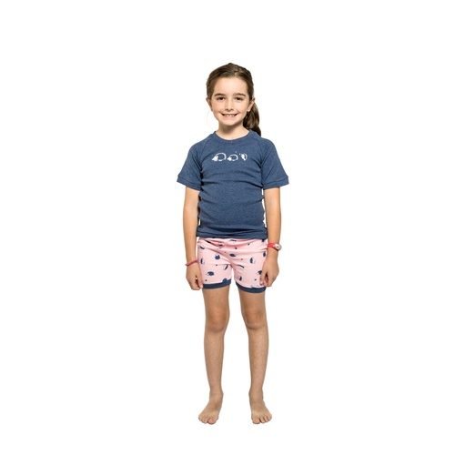 Girls Sizes 5-8 Hedgehog Cotton Short Sleeve PJS Pyjamas SB