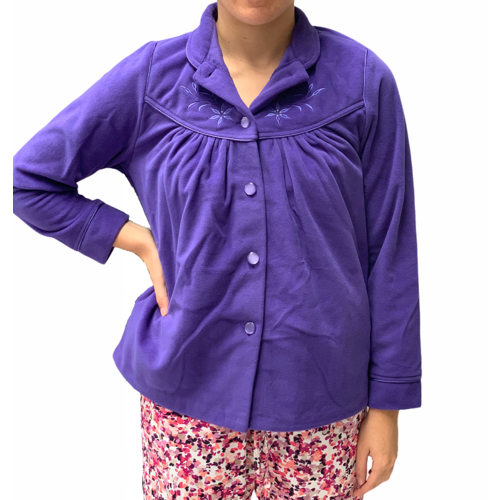 Ladies Givoni Purple Bed Jacket Button Lounge Wear (78)