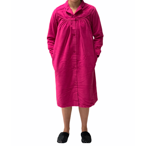 Ladies Givoni Berry Short Length Button Dressing Gown Bath Robe (79)