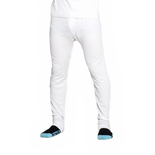 2 Pack Mens Cotton Thermal Underwear Long Johns Pants White